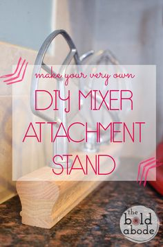 DIY Mixer Attachment Stand: Why did I wait so long to make this? Do It Yourself Projects, Diy Projects To Try, Make It Yourself, Diy Kitchen, Kitchen Gadgets, Kitchen Tools, Wood Crafts, Fun Crafts, Wooden Projects