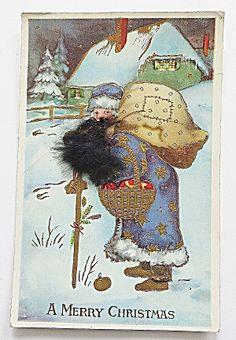 Merry Christmas - Santa Carrying Bag Of Gifts