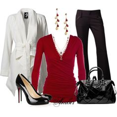 """""""Red, White & Black"""" by stay-at-home-mom on Polyvore"""
