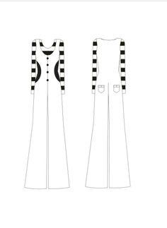 #3 - cropped listrado preto e branco de malha - macacão flare branco com recortes preto na cintura.