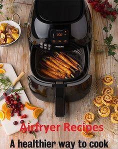 airfryer recipes More (air frier recipes dinners) Airfryer Recipe Book, Phillips Air Fryer, Nuwave Air Fryer, Dry Fryer, Power Air Fryer Recipes, Actifry Recipes, Recipes For Airfryer, Veggetti Recipes, Spiralizer Recipes