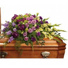Reflections of Gratitude Casket Spray flower arrangement #Casketspray #flowers Walker Funeral Home www.herbwalker.com Cincinnati, OH