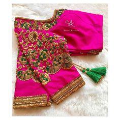35 Stunning Latest Maggam Work Blouse Designs 2020 Stunning Latest Maggam Work Blouse designs 2020 for bridal kanjeevaram silk sarees, wedding blouses, pattu saree blouse designs 2020 Simple Blouse Designs, Stylish Blouse Design, Fancy Blouse Designs, Bridal Blouse Designs, Blouse Neck Designs, Dress Designs, Chiffon Saree, Silk Sarees, Air Jordan 3