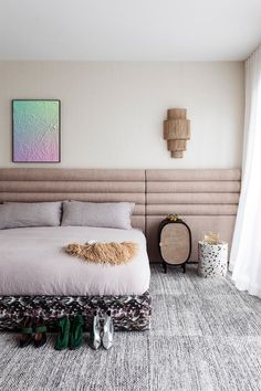 boho bedroom ideas Nyc Studio Apartments, Rug Over Carpet, Pink Tiles, Melbourne House, Built In Bench, Small Room Bedroom, Interior Design Studio, Other Rooms, Home And Family