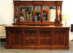 Mahogany Front – Back Bar Antique Home Pub Shop Candy Store Counter 10 Ft Long – Etsy – pet resort Bar Furniture For Sale, Home Bar Furniture, Eclectic Furniture, Eclectic Decor, Furniture Ideas, Mirror Furniture, Furniture Cleaning, Discount Furniture, Garden Furniture