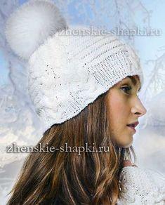 Зимняя шапка спицами схема