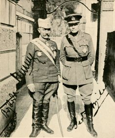Vojvoda (Duke) Misitch General of the Serbian army with General GF Milne, Chief Commander of the British Salonika Army