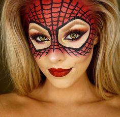 Spider-Man / woman makeup mask