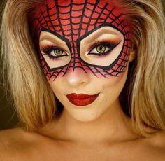 Spider-Man / woman makeup mask