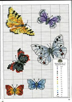 Cross stitch butterflies and chart. Gallery.ru / Фото #93 - Без названия - tymannost