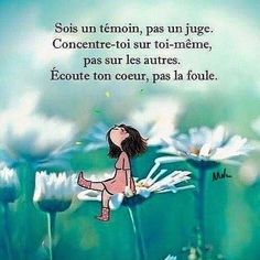 citation Positive Motivation, Positive Quotes For Life, Positive Mind, Positive Attitude, Life Decision Quotes, Life Quotes, French Words, French Quotes, Mantra