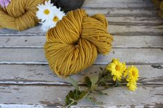 Timber and Twine- yellow harvest wool