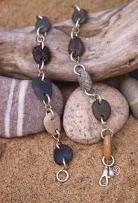 DIY Beach Stone Bracelet  Jewelry @KEMDESIGNS