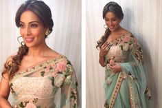 Check out her outfit!. Read more http://fashionpro.me/bipasha-looks-graceful-sabyasachi-saree