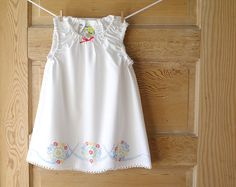 Handmade Baby Dress 2T Vintage Pillowcase Dress by ChirpAndBloom, $38.00