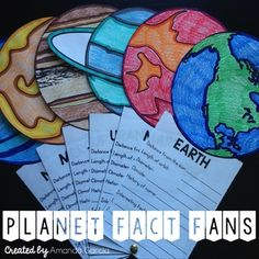 Planet fans would be a great learning or visual tool. Students can really get to learn about each planet and special features each one has. Planets Activities, Science Activities For Kids, Science Classroom, Science Lessons, Teaching Science, Stem Activities, Social Science, Learning Activities, Kids Learning