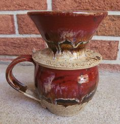 Handmade Stoneware Pour Over Coffee Dripper by LisaMelitaArt