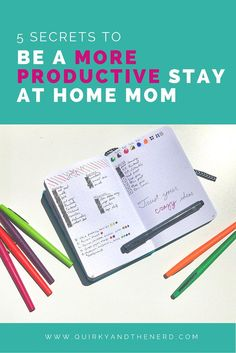 Even though I am home this summer, I was feeling frustrated with my lack of productivity. But I have discovered 5 secrets to improve my stay at home mom productivity. http://quirkyandthenerd.com
