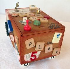 Vintage Altered Cigar Box- Let the Games Begin via Etsy
