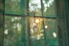 ~blissful country life / the beauty of glimpses of sun through the window Fall Inspiration, Irish Cottage, Window View, Window Panes, Lace Curtains, Through The Window, Green Gables, Morning Light, Morning Sun