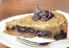 Healthy Deep-Dish Cookie Pie - sweetened with dates.  I adore this dessert, but it tastes nothing like a chocolate chip cookie, in my opinion.