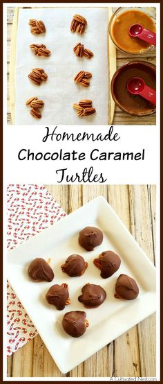 Great last minute gift you can make (put them in a mason jar with a cute ribbon). These chocolate covered turtles are so easy to make!