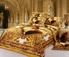 Find More Bedding Sets Information about Luxury Europe 3D oil Painting Queen size Golden Bedding Set Cotton 4PCS Duvet Cover set Sheet Bedspread housse de couette cama,High Quality sheet metal bending tools,China sheet veneer Suppliers, Cheap sheets and pillow cases from Top Qulity Human Hair Factory on Aliexpress.com