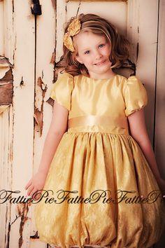 fattiepie gold flower girl