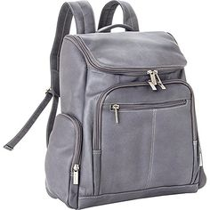 Le Donne Leather LD4020Gray Laptop Backpack ** You can find out more details at the link of the image. This Amazon pins is an affiliate link to Amazon.