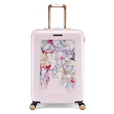 Buy Ted Baker Alanie Hanging Gardens 4-Wheel 69.5cm Suitcase, Pink Online at johnlewis.com