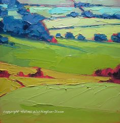 Small landscape painting process: – My Life in Paint