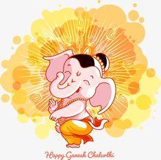 Vector Cartoon Ganesha Comics Vector and PNG Ganesha Sketch, Ganesha Drawing, Lord Ganesha Paintings, Mandala Drawing, Ganesha Pictures, Ganesh Images, Cartoon Clouds, Cartoon Background, Comic Frame