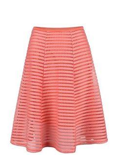 Apricot - Korálová sukně ze síťované krajky - 1