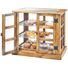 "Cal-Mil 3621-99 Madera Reclaimed Wood 3 Tier Paneled Bakery Display Case - 25"" x 17"" x 23"""