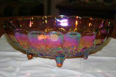 Fabulous Irridescent Vintage Carnival Glass by TheTreasureHuntLLC, $32.00