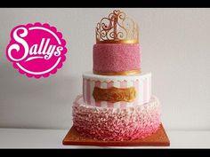"""""""Prinzessin"""" Torte zum 1. Geburtstag / Mädchen / First Birthday Cake Girl / Princess - YouTube"""