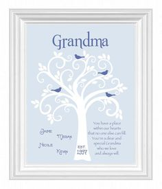 Grandma Gift Family Tree  Personalized gift by KreationsbyMarilyn, $15.00