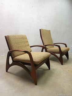 Mid century vintage design lounge chairs armchairs De Ster Gelderland www.bestwelhip.nl