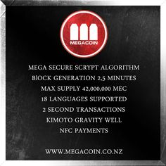 #megacoin #cryptocurrency #altcoin