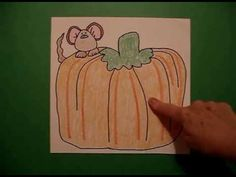 Let's Draw a Harvest Pumpkin w/ Mouse! - YouTube