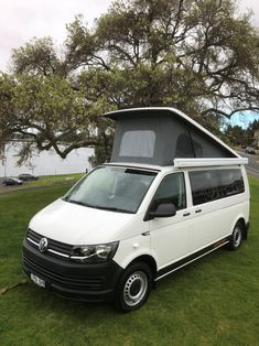 Our latest van converion with pop top roof. Vw Campervans For Sale, Van Conversion Campervan, Rock And Roll Bed, Custom Camper Vans, Used Hyundai, Portable Solar Panels, Dinosaur Design, Leather Design, Pop