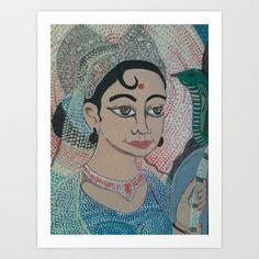 PARVATI-Goddess of Power Art Print by Kathead Tarot - $25.48