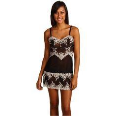 $60.00 Wacoal Embrace Lace Chemise (Black) Women's Lingerie