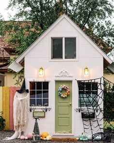 "Grandin Road on Instagram: ""Work your magic. // Shop @athomewithashley's haunted playhouse look at the link in bio. #grandinroad #halloweenhaven . . . #hauntedhouse…"""