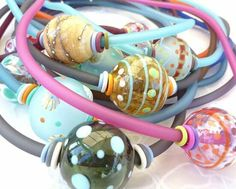 Fabulous hollow bead chokers by lushlampwork