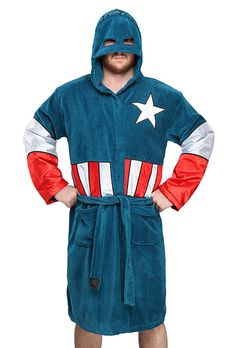 Captain America Fleece Bathrobe