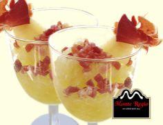 ¿Estrenamos el día con este delicioso sorbete de melón con taquitos de jamón ibérico #MonteRegio? ¡Ñam,Ñam!