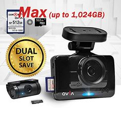 Lukas QVIA R935 R935G Car Black Box 2Ch Dashcam Dual slot up to 1024GB Memory Capacity  40GB ** Learn more by visiting the affiliate link Amazon.com on image.