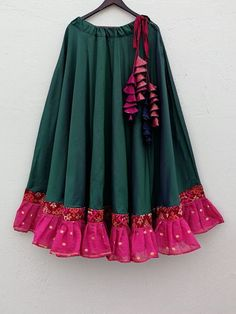 March - Maxi Flared Skirt - Sky Blue - Colors and Mirrors Saree Tassels Designs, Choli Designs, Lehenga Designs, Blouse Designs, Lehnga Dress, Lehenga Choli, Baby Lehenga, Indian Designer Outfits, Designer Dresses