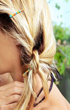 friendship bracelet bobby pins DIY